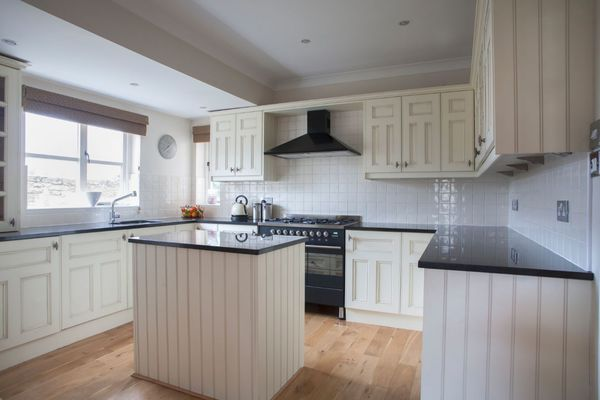 New Counters in Modern Kitchen