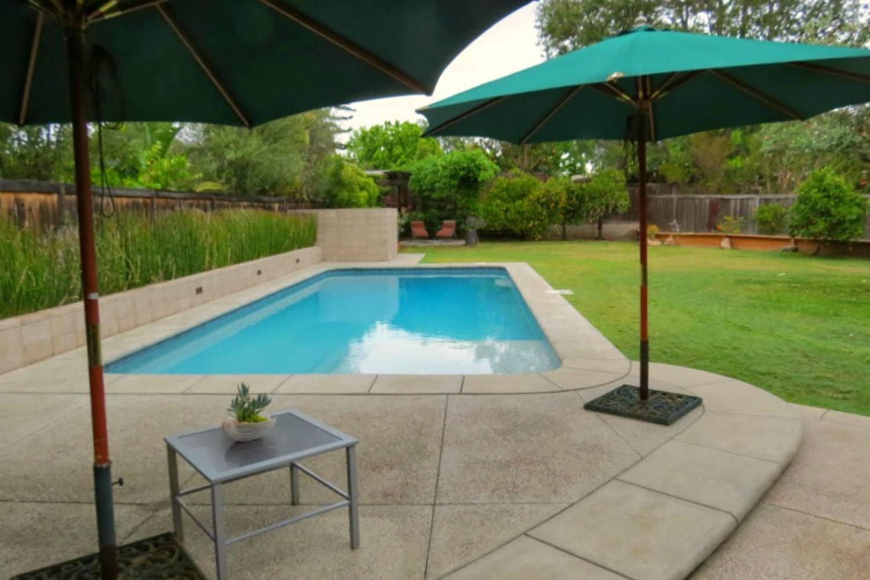 umbrellas in yard