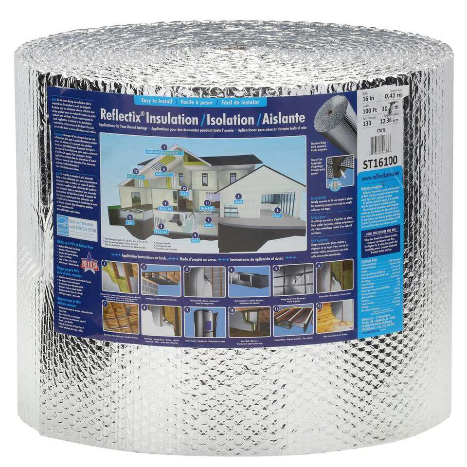 A roll of Reflectix insulation
