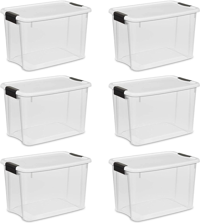 STERILITE 30 Qt. Ultra Latch Box (6-pack)