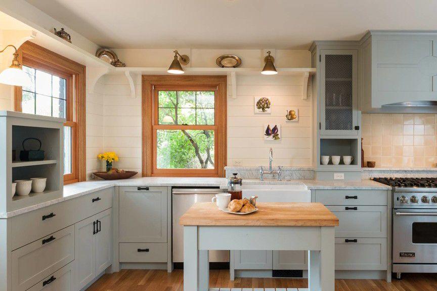 Dove gray kitchen