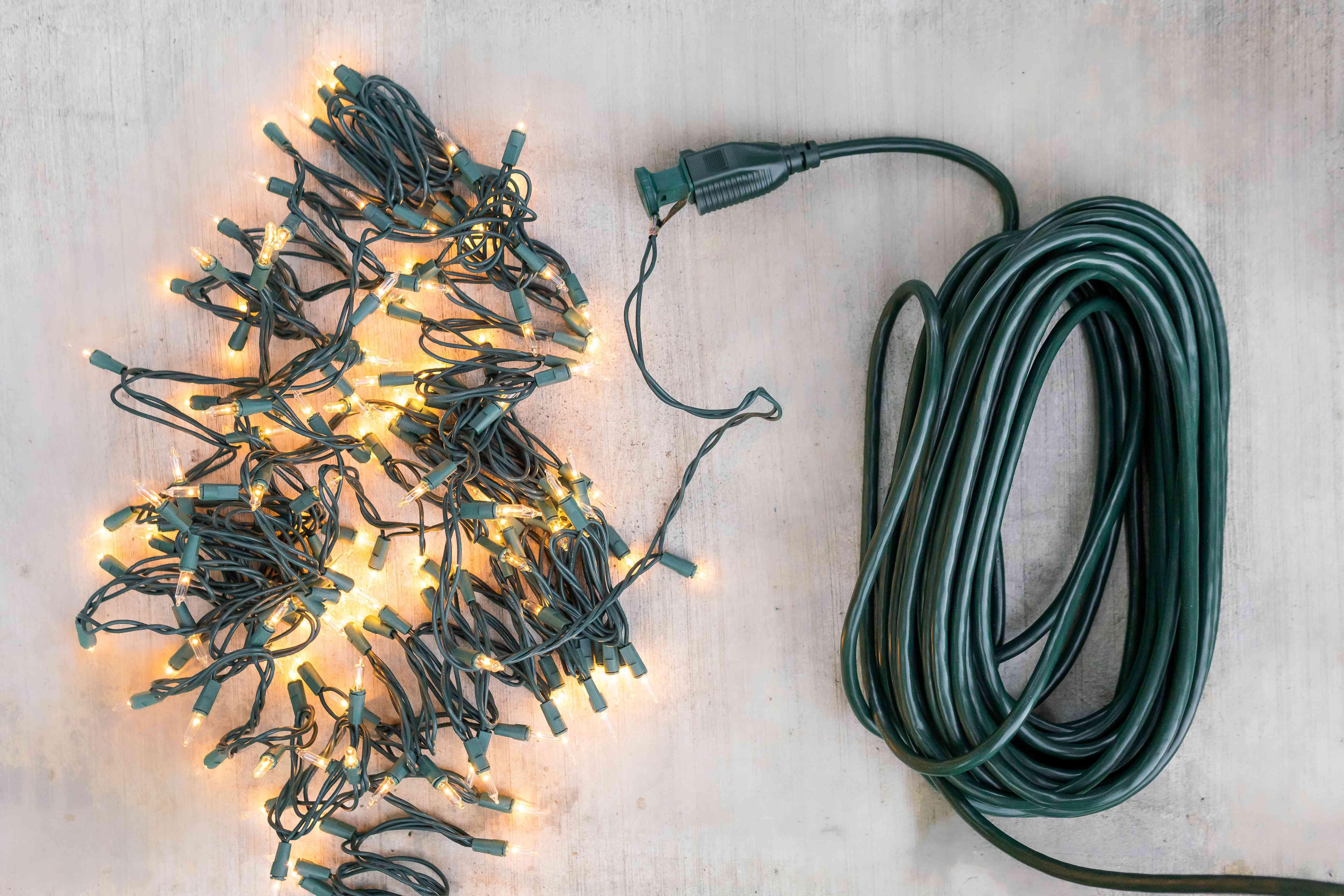 testing the string lights