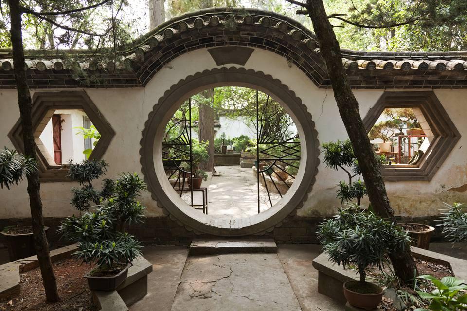 Taoist temple garden