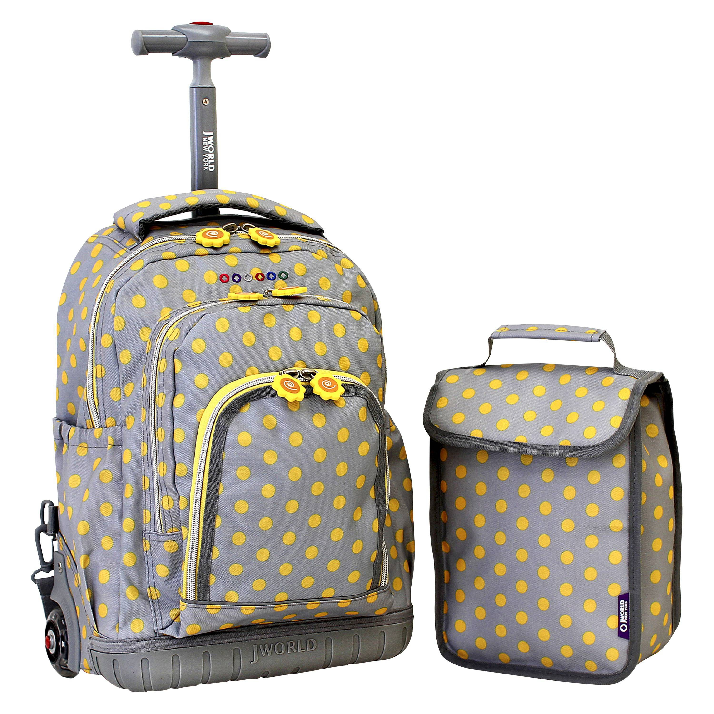 Best Set Jworld Lollipop Rolling Backpack With Lunch Bag