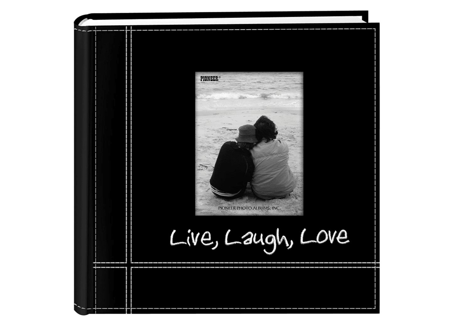 Pioneer Live, Laugh, Love Photo Album Embroidered