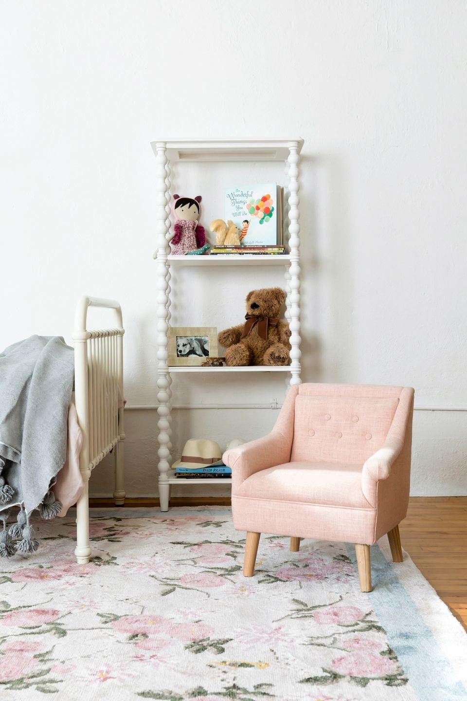 Lulu and Georgia kid's chair and bookshelf