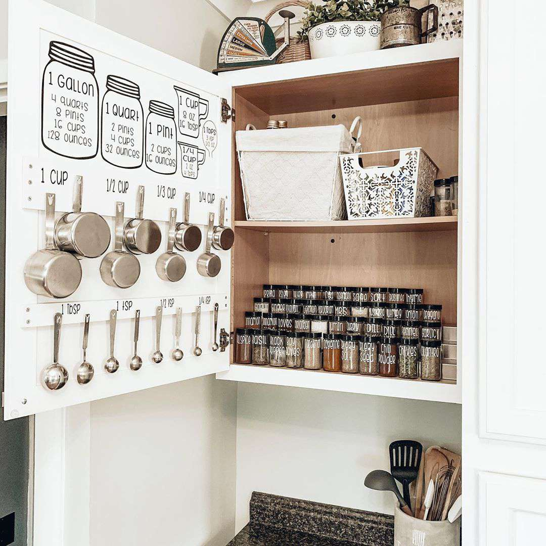Organized measuring cups