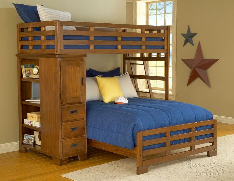 Bunkbeds With Twin Over Double Bed