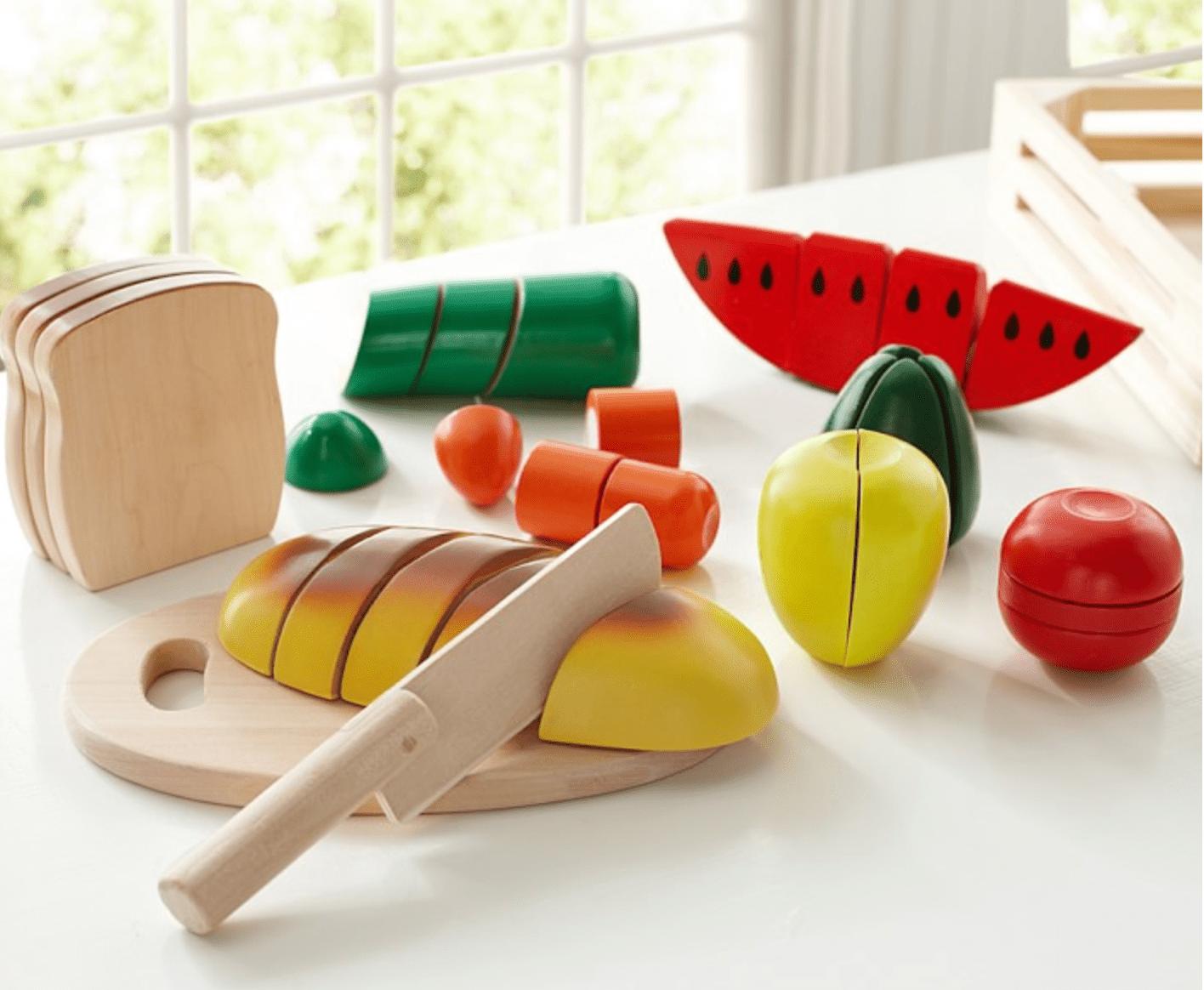 Pottery Barn Kids Wooden Food Set