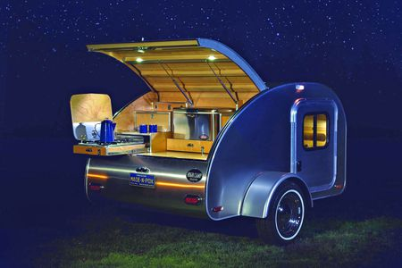 A Teardrop Camper Trailer