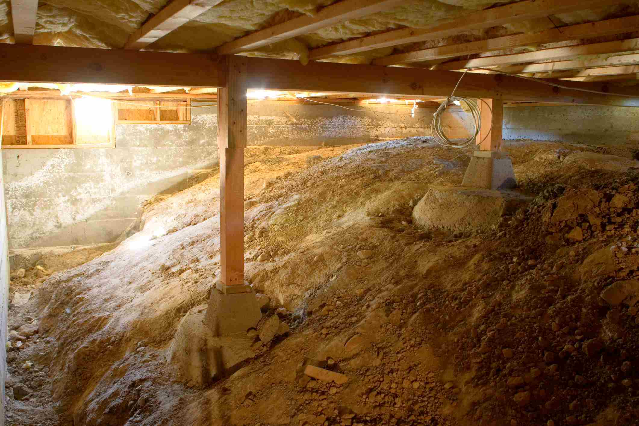 Luxury Convert Crawlspace to Basement