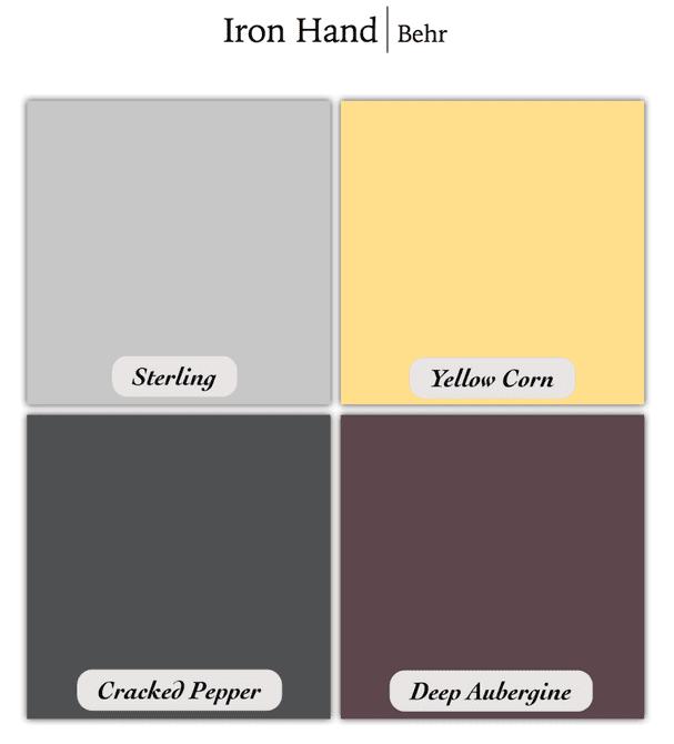 Esquema de colores grises de Game of Thrones
