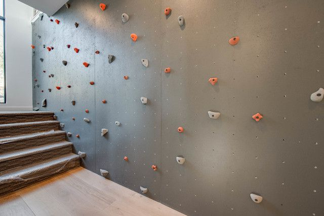 A rock wall in a home
