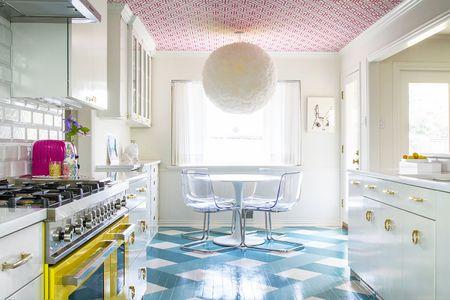 Wallpaper Ceiling In Kitchen Janet Gridley Interior Design