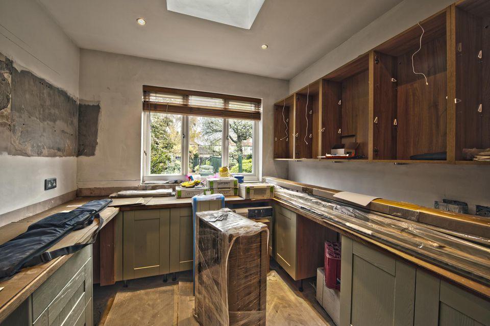 Interior domestic kitchen installation