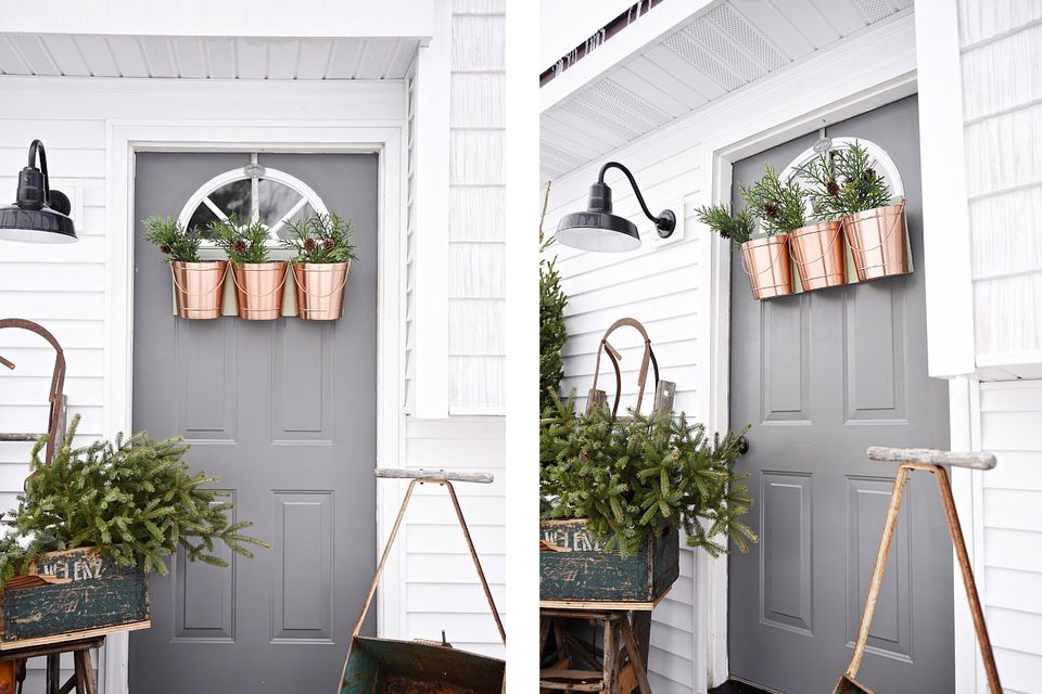 Christmas Planters For Front Porch.40 Best Christmas Porch Decorations