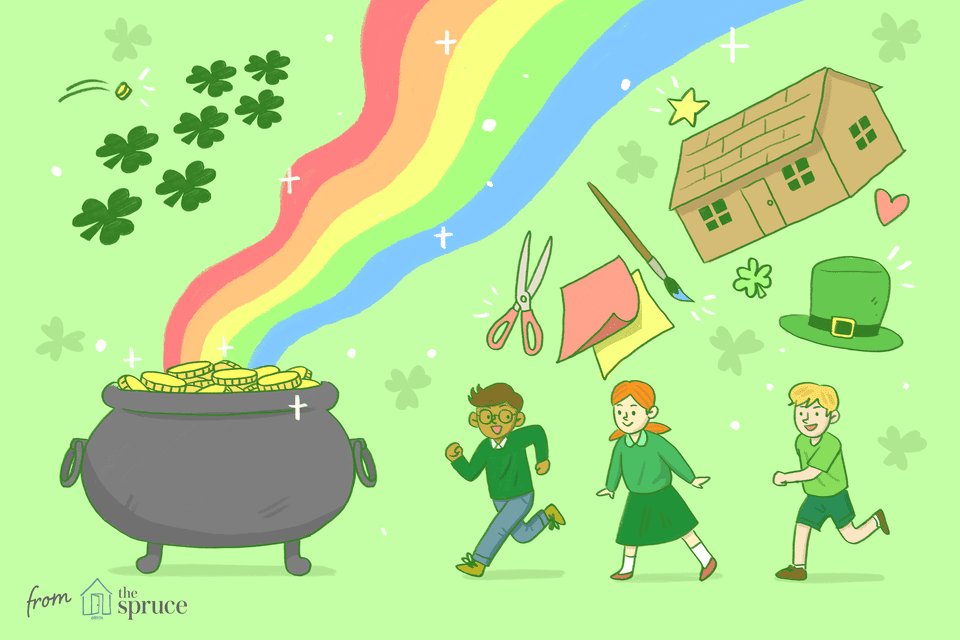 illustration of st. patrick's day games