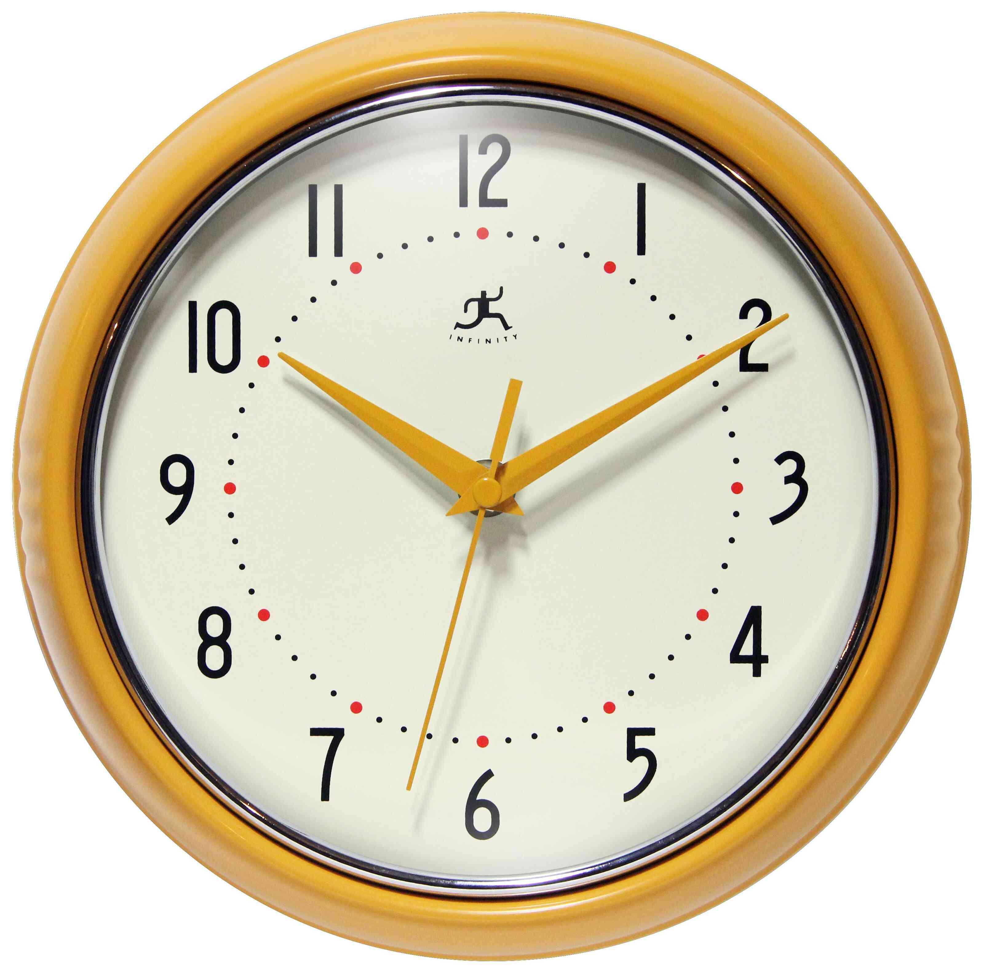 George Oliver Saffron Yellow Vincente Wall Clock