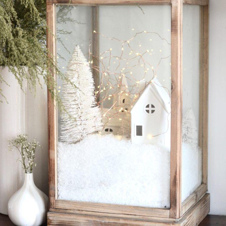 Christmas snow decor