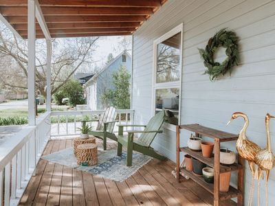 a well-styled front porch
