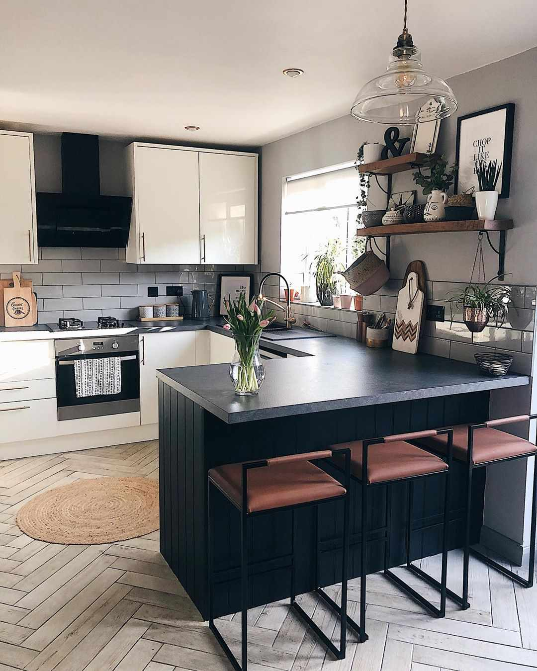 Kitchen with industrial decor