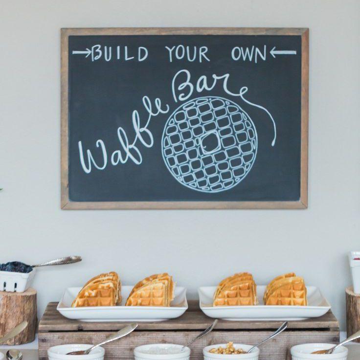 Wedding Reception Waffle Bar