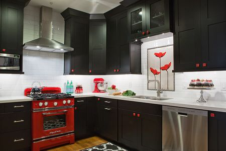 Magnificent Kitchens With Black Cabinets Complete Home Design Collection Lindsey Bellcom