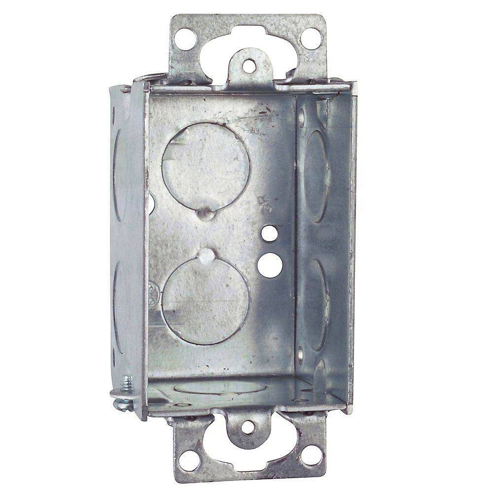 Different Types Of New Work Metal Switch Boxes 1 Gang Electrical Fuse Box