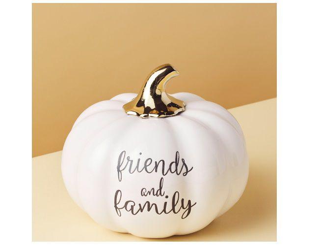 Ceramic Friends And Family Pumpkin