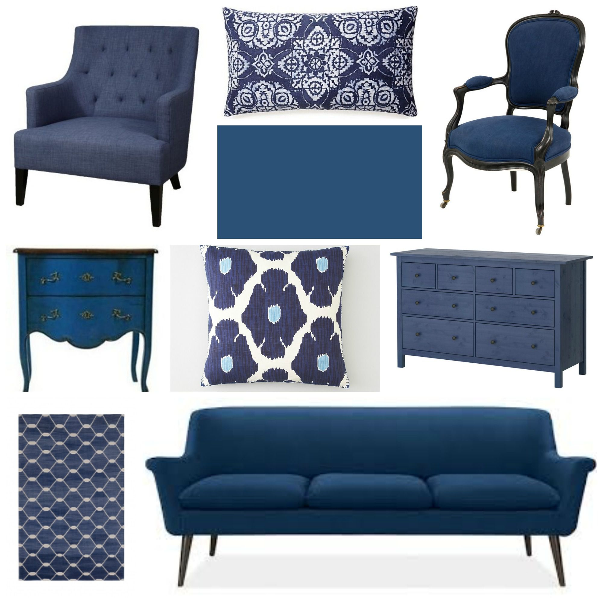 Spruce Home Decor Gift Store: Home Decorating With Indigo Blue