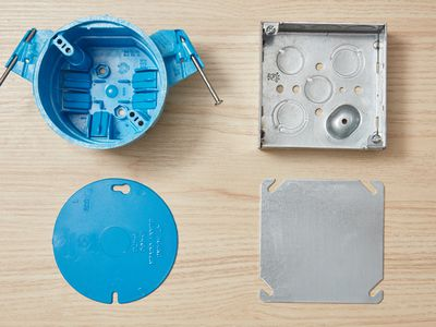 Plastic and metal electrical box