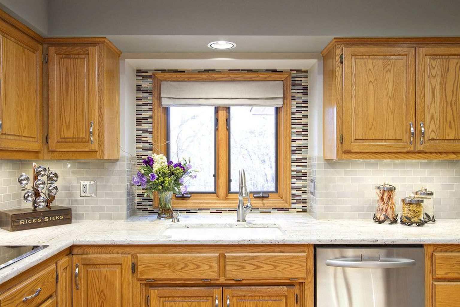 Oak cabinets with granite countertop