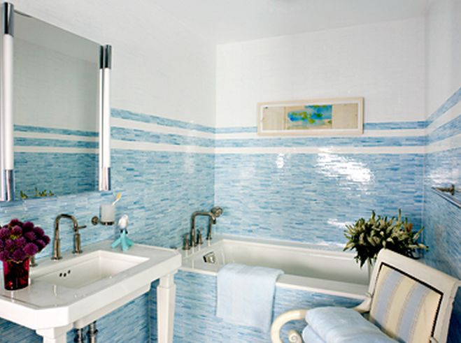 Bathtub Surround Mosaic Tile Idea