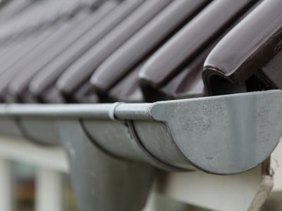 gutters on a house