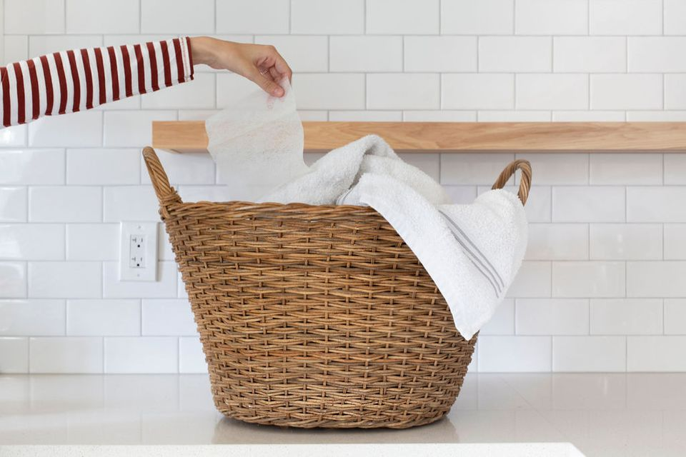 how to remove dryer sheet stains