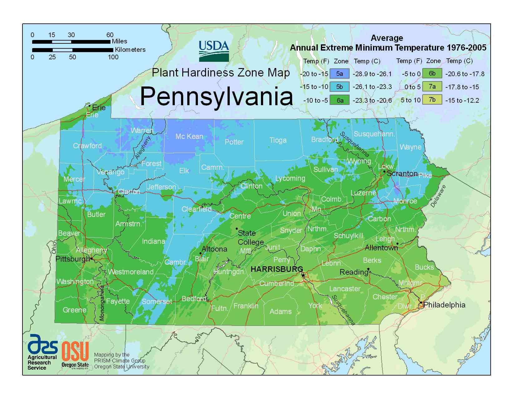 Photo of Pennsylvania Hardiness Zones