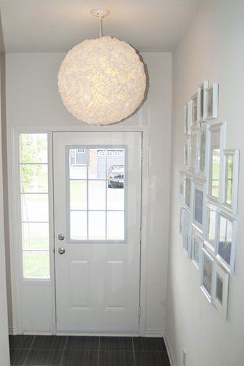 home lighting ideas. Ruffled Coffee Filter Lantern Home Lighting Ideas