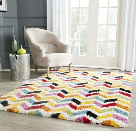 Rainbow Chevron Rug For Nursery Or Kid S Room