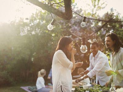 Backyard picnic party