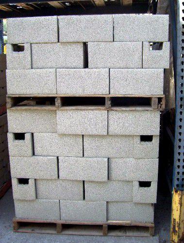 paleta de bloques de hormigón