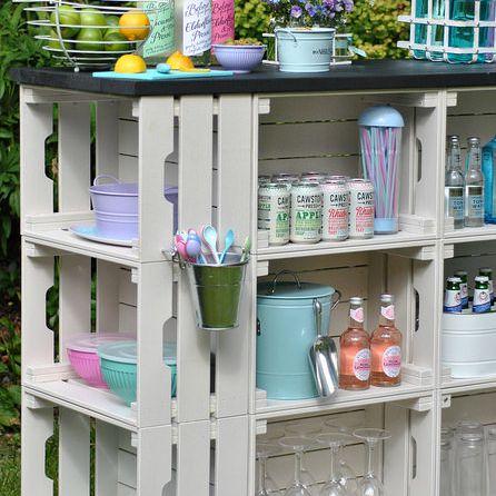 Wooden Crate outdoor bar