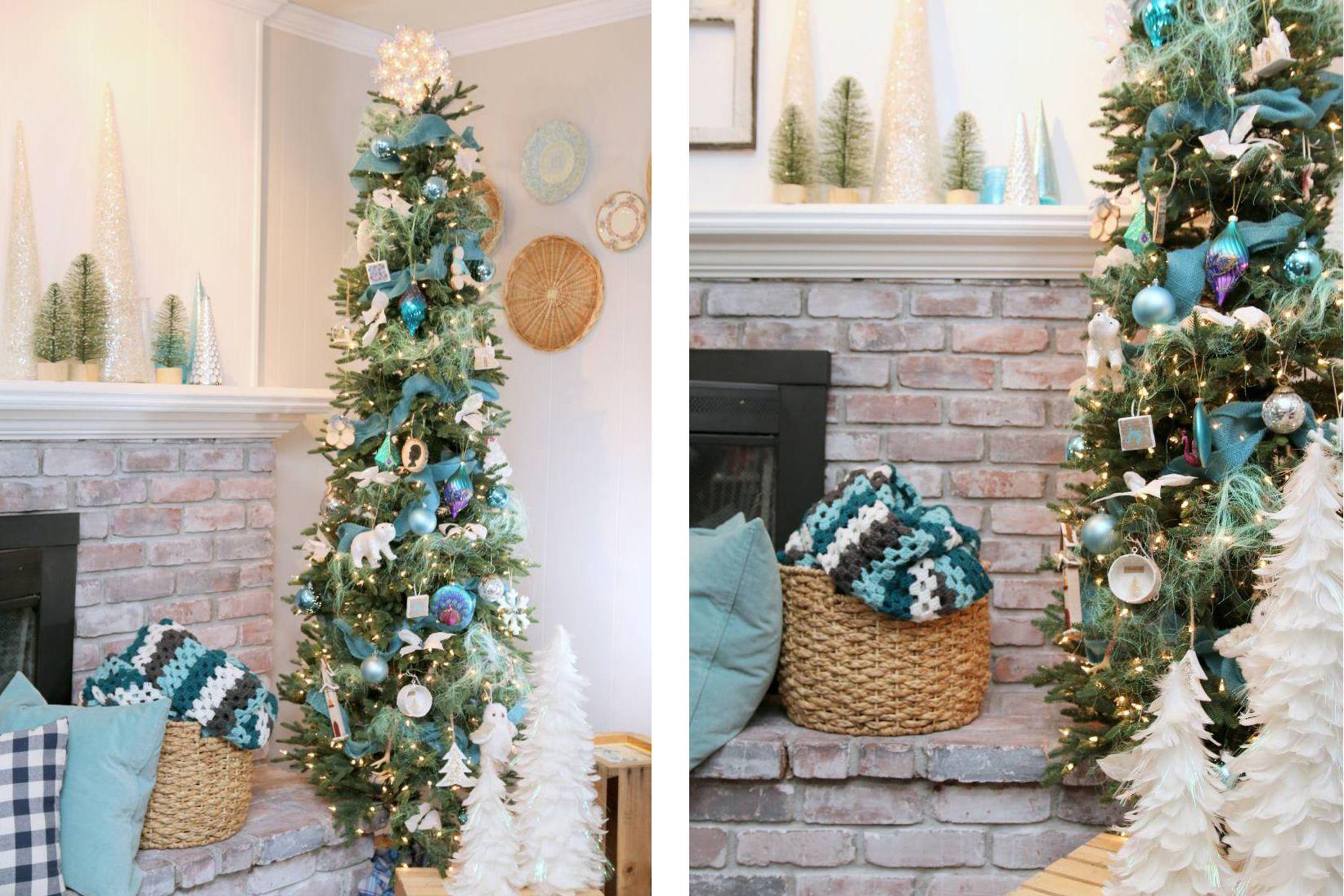 33 festive fresh ways to decorate your christmas tree - Aqua Christmas Tree