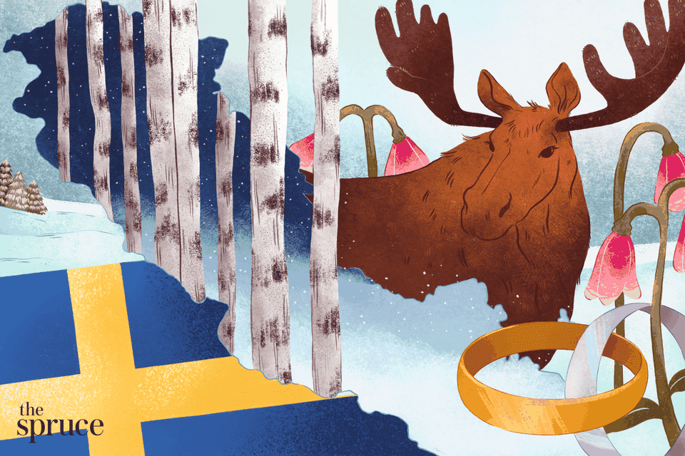 how to get married in sweden illustration