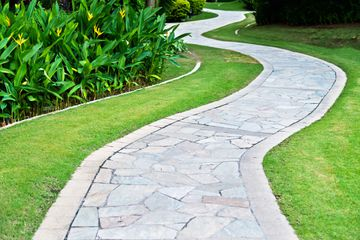 How To Build A Stone Sidewalk Or Garden Path