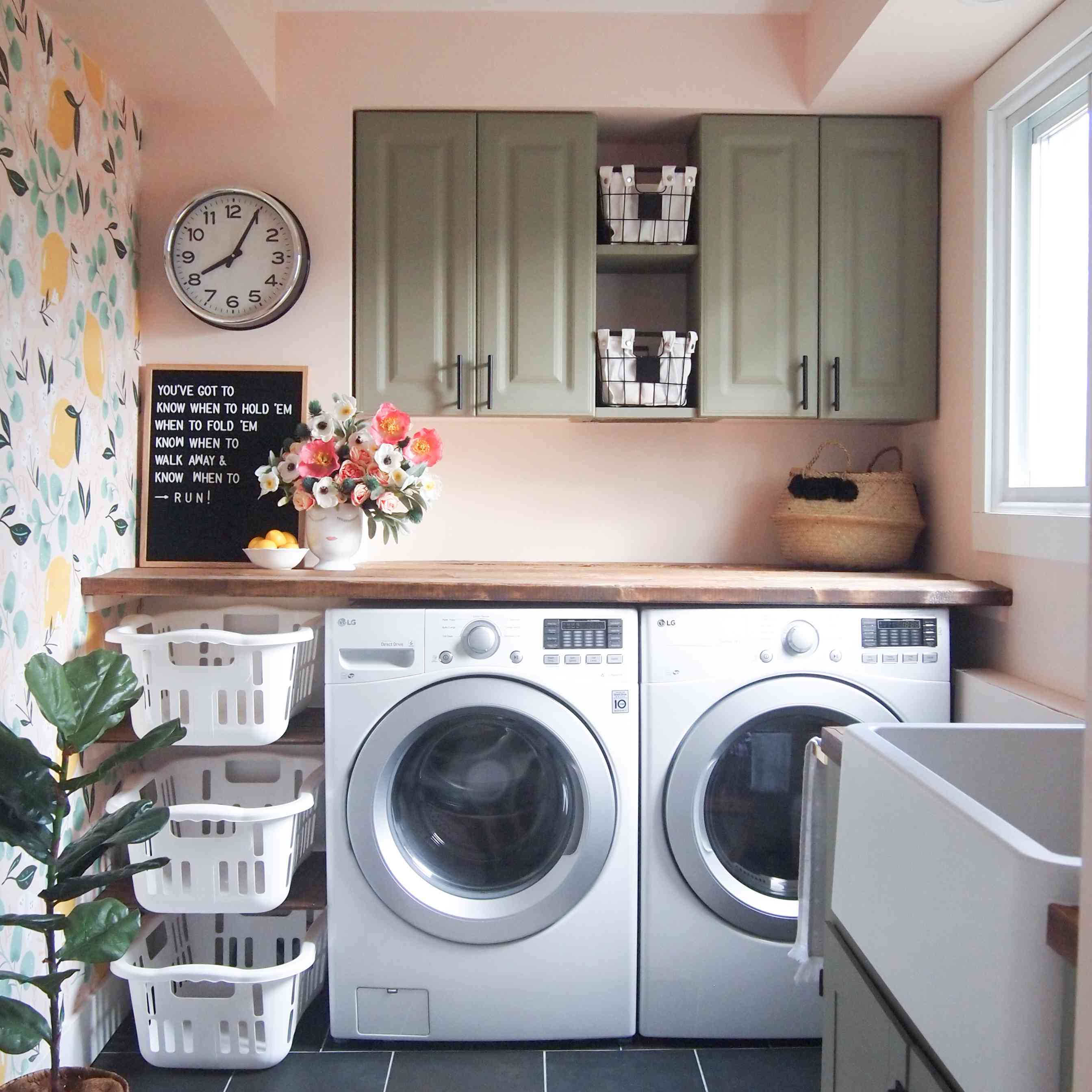 Laundry room after makeover.