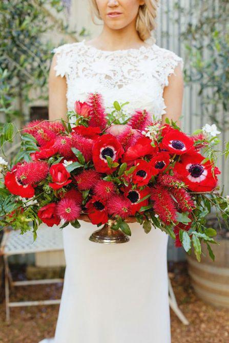 Centro de mesa para bodas Anemone Spring