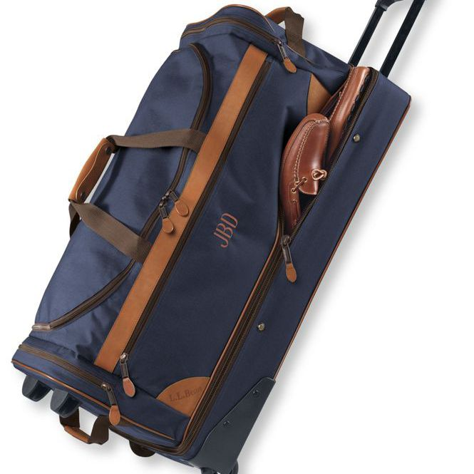 Sportsman's Rolling Gear Bag With Monogram