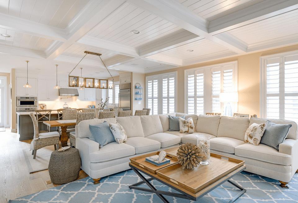 Open concept beach house echelon interiors