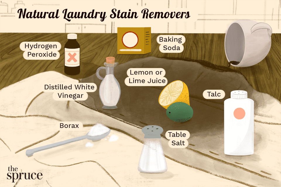 Natural Laundry Stain Removers