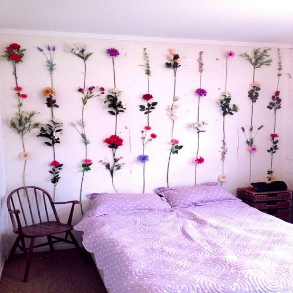 Dress up a Girls Room With Faux Flowers